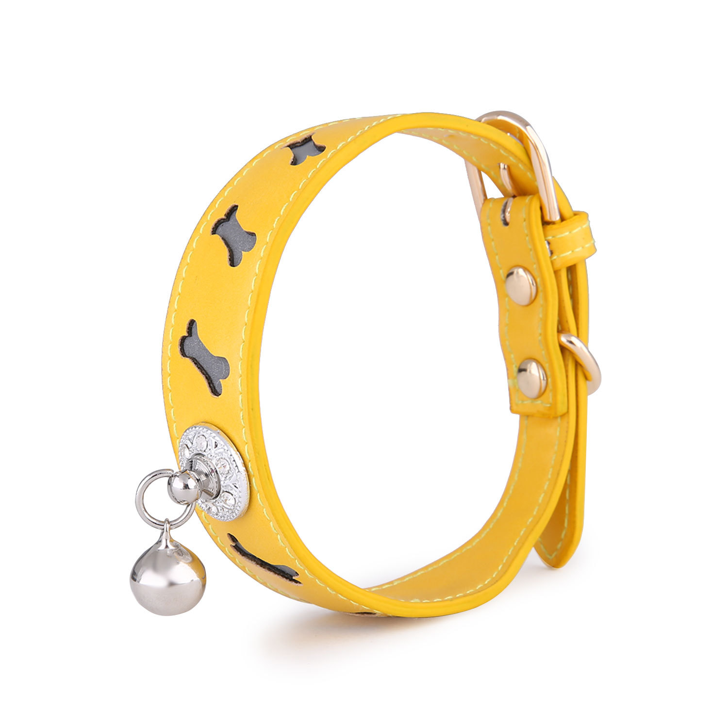 2020 New Products Pet Collar Cool Bone Shape Bell Pet Cat Dog Reflective Neck Ring