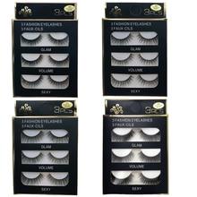 Makeup Extension-Tools False-Eyelashes Mink-Hair Beauty Natural/thick 5pairs 3D Wispy