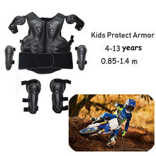 Children Full Body Protector Vest Armor Kids Motocross Armor Jacket Chest Spine Protection Gear MTB Skating Knee elbow guard LL(China)