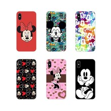 Beauty Cartoon Mickey Minnie Mouse For Apple iPhone X XR XS 11Pro MAX 4S 5S 5C SE 6S 7 8 Plus ipod touch 5 6 Mobile Phone Covers(China)