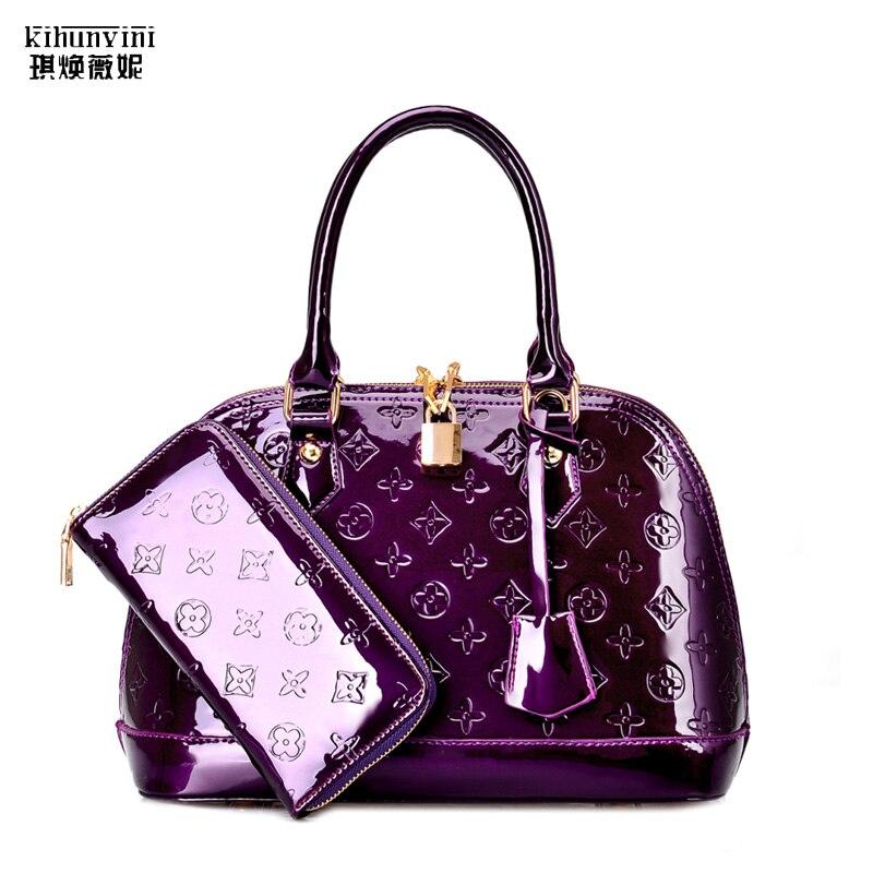 KIHUN luxury bags handbags for women shell hand bag patent leather high quality handbag female purse new fashion top handle bags| |   - AliExpress