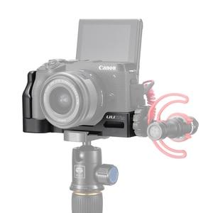 Image 1 - UURig Arca שחרור מהיר L צלחת עבור Canon M6 Mark II עם קר נעל 1/4 בורג כדי מיקרופון