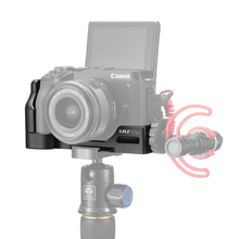 UURig Arca Quick Release L Plate for Canon M6 Mark II with Cold Shoe 1/4 Screw to Microphone
