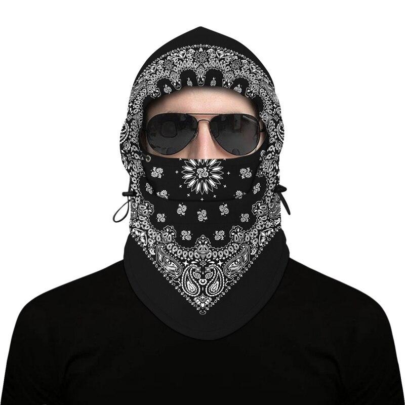 バラクラバフッド警察swatバイクキャップフリーススキーバイクスカーフ風ストッパーマスク帽子新加入屋外冬熱暖かい6 1で男性