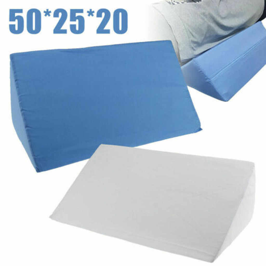 New Orthopedic Acid Reflux Bed Wedge Pillow Sponge Cotton Back Leg Elevation Cushion Pad Bedding Zipper Pillow Large Size