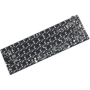 Kit de teclado DIY GK64XS RGB intercambio en caliente caja de conexiones Bluetooth programable PCB Board Kit de plástico Shell Tai Edition