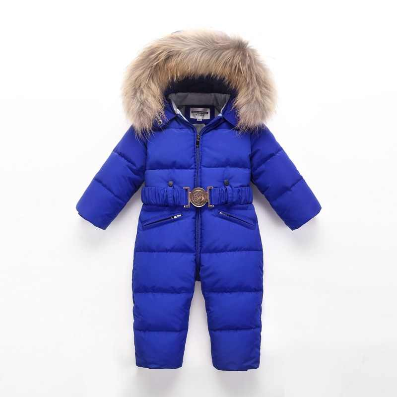winter Baby warm down jacket Children's Siamese down jacket Boys thick down coat Girls windproof ski jacket kids winter clothing
