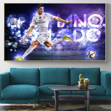 Cristiano Ronaldo Soccer Superstar Poster And Prints Football Art Painting On Canvas Wall Picture For Living Room Decoration michael jordan dunk pose poster and prints basketball superstar wall picture on canvas wall art painting for living room decor