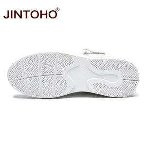 Image 5 - JINTOHO mężczyźni zimowe buty moda białe skórzane trampki Casual męskie botki męskie skórzane buty zimowe męskie buty męskie botki