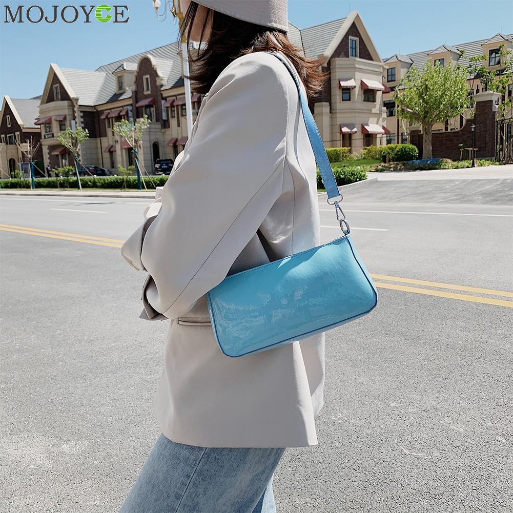 PU Leather Women Handbags Elegant Shoulder Trunk Solid Color Female Totes Bags Female Classic Elegant Shoulder Handbag