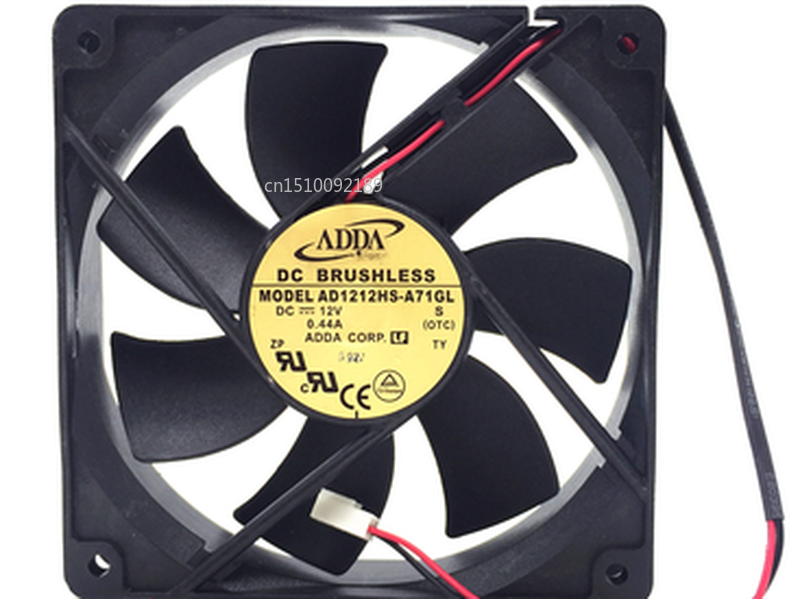 Free Shipping AD1212HS-A71GL S Server Cooler Fan DC 12V 0.44A 2-Wire