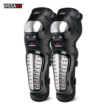WOSAWE Adult Motorcycle Knee Pads Stainless Steel Knee Guards  Moto Racing Skateboard pulley Protective Gear Kneepads Kit 1 pair protective cycling guards waterproof gear safety adjustable equipment riding thicken warm motorcycle knee pads pu racing