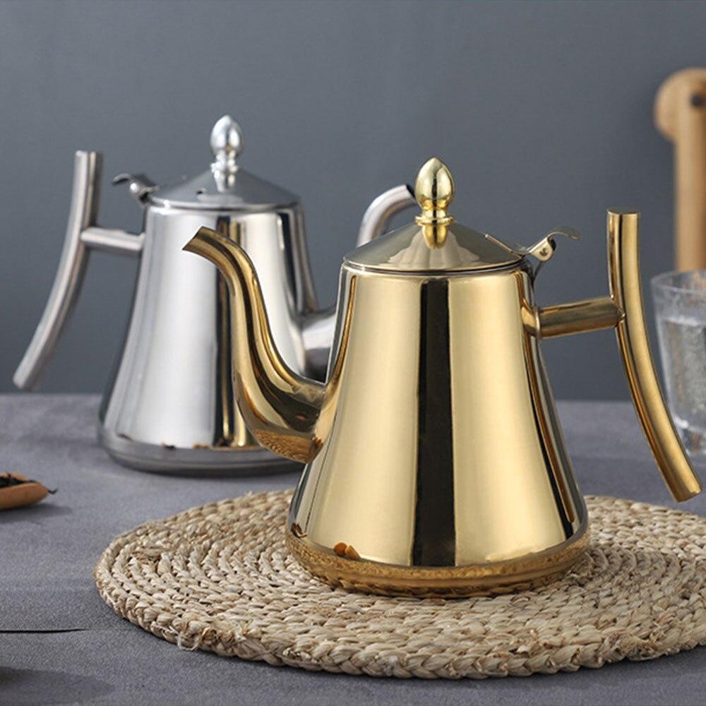 1Л/1.5л утолщенный чайник с фильтром длинный рот из нержавеющей стали чайник отель кофейник индукционная плита для ресторанов