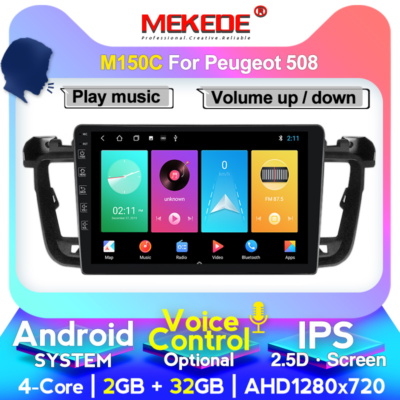 MEKEDE M400 For Peugeot 508 1 2011 2012 2013 2014 2015 2016 2018 Car Radio Multimedia Video Player Navigation GPS Head Unit