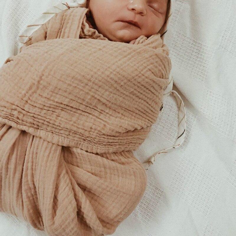 Baby Blankets Newborn Cotton 6 Layer Muslin Swaddle Wrap Stroller Sleep Cover Kids Baby Quilt