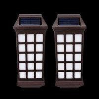 Waterproof Solar Wall Lamp Fence Pathway Porch Garden Lighting Warm White