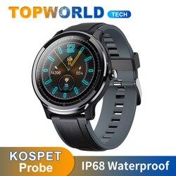 KOSPET sonda Smartwatch IP68 wodoodporny inteligentny zegarek w pełni dotykowy okrągły pomiar ciśnienia Bood SN80 inteligentny zegarek mężczyzn