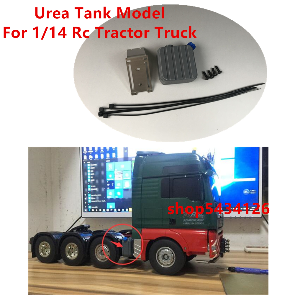 Plastic Urea Tank With Metal Mount Kits For 1/14 <font><b>Rc</b></font> <font><b>Tamiya</b></font> Tractor Trailer 6X4 8X4 <font><b>Dump</b></font> <font><b>Truck</b></font> Actros Arocs Parts & Accessories image