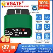 Vgate vlinker fd + ELM327 bluetooth 4.0 forscanフォードwifi OBD2車診断obd 2スキャナJ2534 elm 327 ms can自動ツール