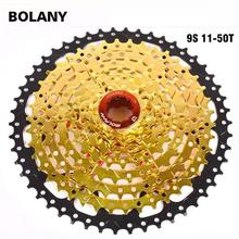BOLANY Bicycle Freewheel MTB Cassete 9S 27S 11-42T 50T 32T Mountain Parts 9 Speed Cassette Compatible gold