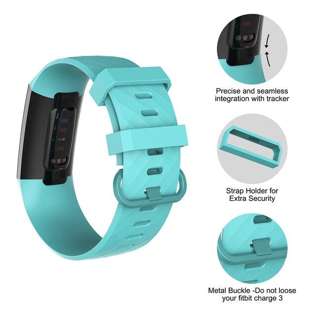 Фото ремешок силиконовый для fitbit charge 3 4 сменный спортивный