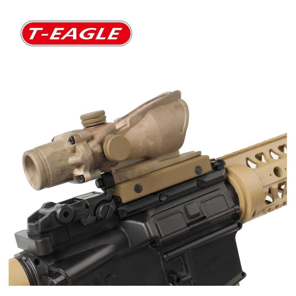 Trijicon T-kartal ACOG 1x32 optik tüfek kapsamları Spotting kırmızı nokta M416 Reticle ile 20MM bağlar tüfek avcılık optik sight