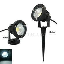 10X חיצוני LED אורות דשא עמיד למים COB גן מנורת 220V 110V 12V 3W 5W 7W 9W ספייק תאורה IP65 בריכת נתיב נוף נורות