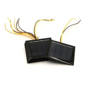 Image 2 - 5 قطعة X 2 فولت 100mA لوحة طاقة شمسية مع 15 سنتيمتر تمديد سلك القياسية الايبوكسي الكريستالات لتقوم بها بنفسك بطارية الطاقة تهمة وحدة صغيرة الخلايا الشمسية