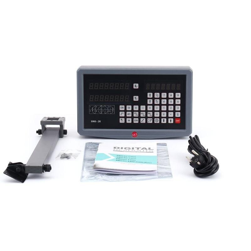SNS-3V kompletny zestaw DRO 3-osiowy wyświetlacz cyfrowy odczyt 3 szt. Zestaw wagi liniowe