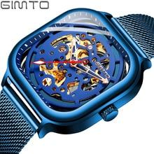 Men Automatic Mechanical GIMTO 2019 Fashion Watch Mens Sports Luxury W