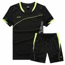 blank soccer jersey Football Jersey soccer set training suit Short sleeve tracksuit for men Sportswear soccer shirt shorts training suit Customized