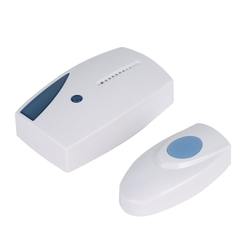 Wireless Doorbell 100m Range Cordless Music Door Bell With LED Light Remote Control Home Security System Easy Installation