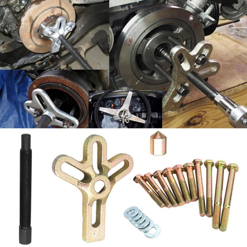 13 PCs Gear Auto Damper Car Steering Wheel Puller Set Remover Hand Tool Heavy Duty Disassembly Harmonic Balance Crank Shaft