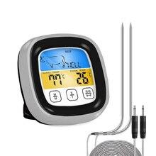 Цифровой кухонный термометр для мяса из нержавеющей стали, водонепроницаемый датчик температуры мяса, печь для приготовления барбекю, изме...