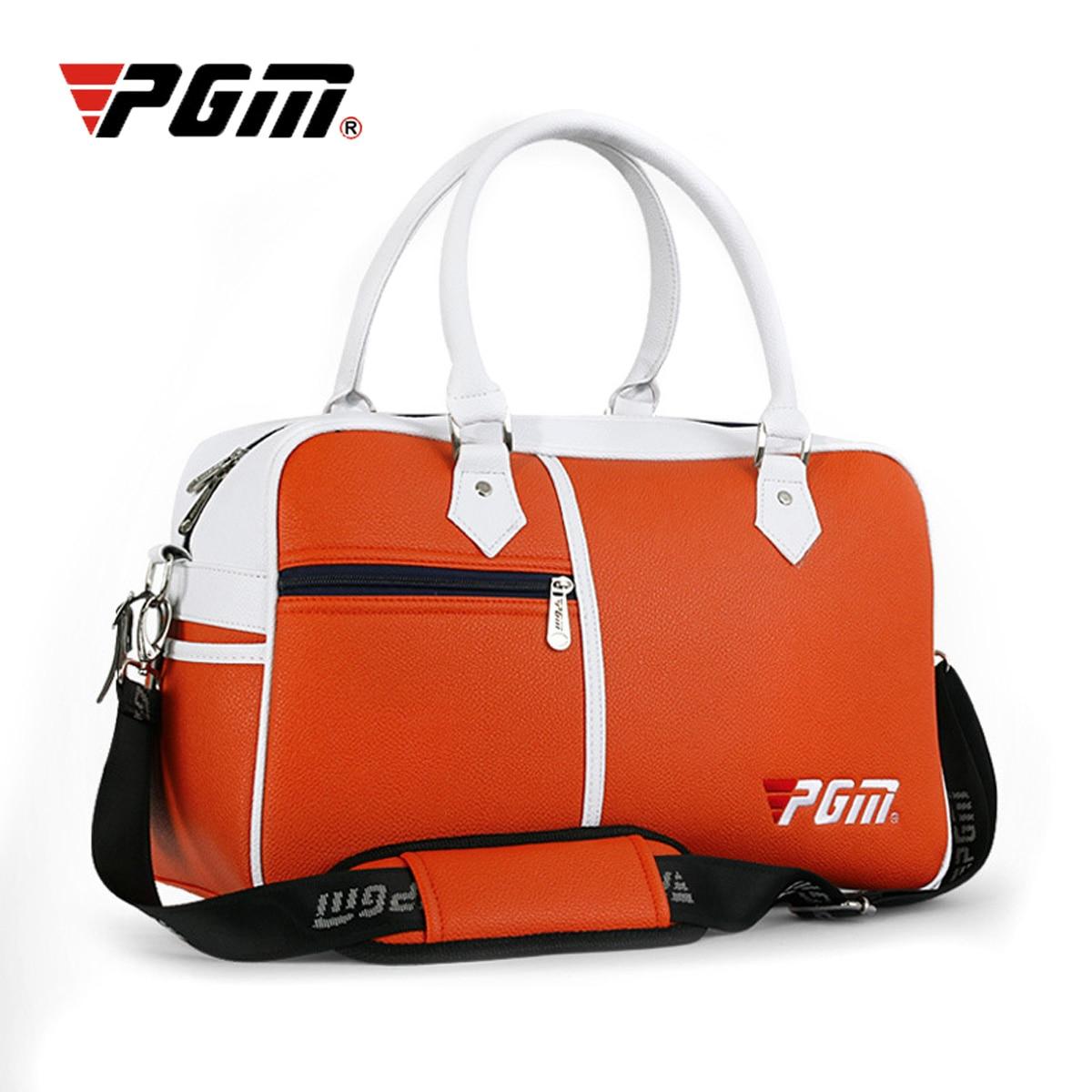 PGM Golf Bag Men's Golf Clothes Bag Womens Shoe Package Anti-dirt Box-shaped Bag Large Capacity Double-deck Clothes Bag 3 Colors