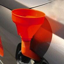 Прочный Оранжевый носик топливная Воронка аксессуары для воды Инструменты Съемная гибкая трубка может автомобиль сетчатый фильтр масла Универсальный