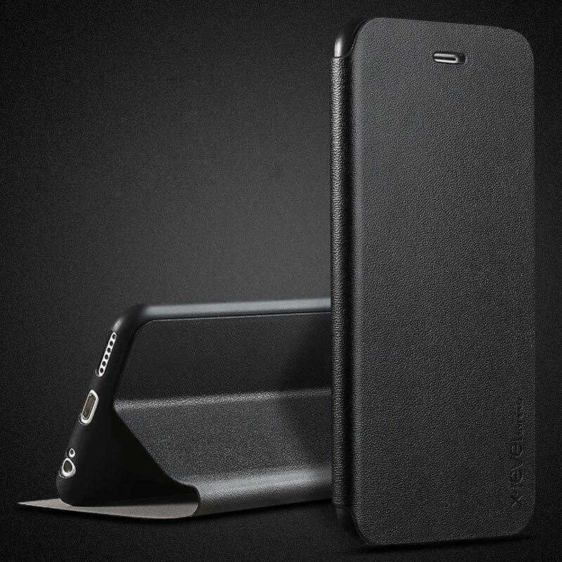 Ultra fino fino caso da aleta para apple iphone 11 pro 6 s mais caso 6 s 7 8 10 x xr xs max capa de couro para apple iphone 6 caso flip