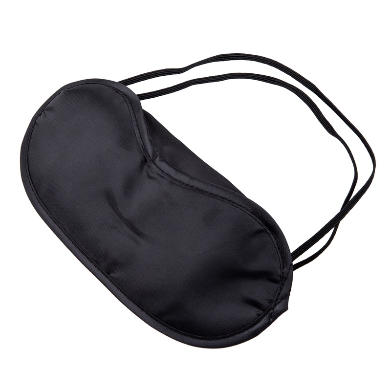 Hot 10 X Eye Mask Shade Cover Blindfold Night Sleeping Black
