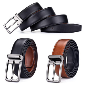 Cowhide Genuine Leather Belts for Men Male Pin Buckle Jeans Waist Belt Mens Black Brown Two Sides Color Belt Ceinture Homme