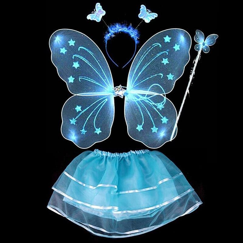 Сказочный Детский костюм с крыльями бабочки для девочек, Радужное платье с маской, юбка-пачка, вечерние Товары для детей 3-10 лет, Лидер продаж