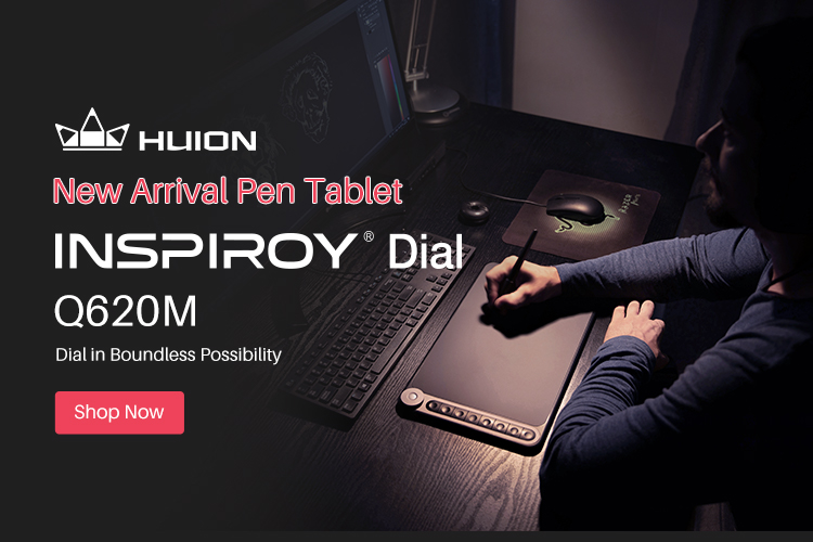 Huion Inspiroy Dial Q620M Wireless Graphic Tablet 1