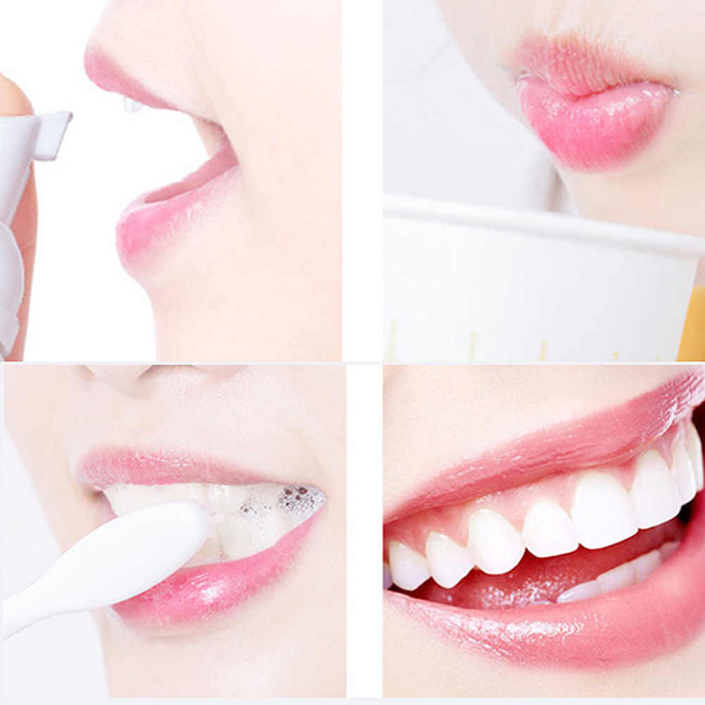 1/2 sztuk świeże Shining zębów-do czyszczenia mus pasta do zębów higiena jamy ustnej opieki zdrowotnej JIU55