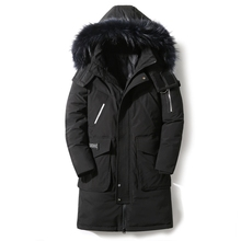 90 Down Jackets 2019 new winter men #8217 s down jacket high quality Detachable Fur Collar male #8217 s jackets thick warm Outdoor windproof cheap JUNGLE ZONE Thick (Winter) G881 REGULAR Casual zipper Full Solid Denim Hat Detachable Button Pockets Zippers Appliques