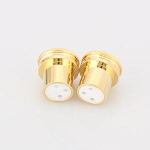 Image 3 - 하이 엔드 노이즈 스토퍼 금도금 구리 XLR 플러그 캡 XLR 보호 캡 3 핀 XLR 암 소음 감소 캡