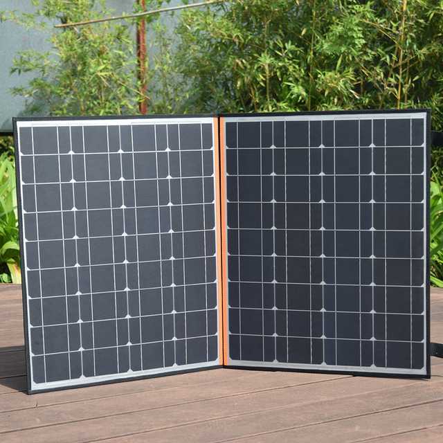 120w 12v/18v foldable solar panel flexible home kit portable 100w usb 5v phone outdoor charger