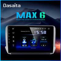 Dasaita 10,2 IPS coche Android 9,0 reproductor Multimedia para Peugeot 2008, 208, 2012, 2013, 2014, 2015, 2016 navegación GPS DSP MAX6