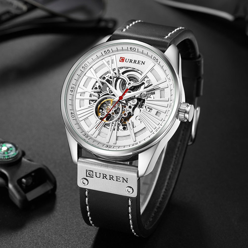 Hollow Automatic Mechanical Watches Men Fashion Luxury Brand Analog Watch Men's Waterproof Creative Wristwatch Relogio Masculino-in Mechanical Watches from Watches    1