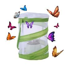 Бабочка и насекомых среды обитания клетка павильон бабочек сетки Террариум всплывающее окно научные развивающие игрушки-белый+ зеленый Размер S