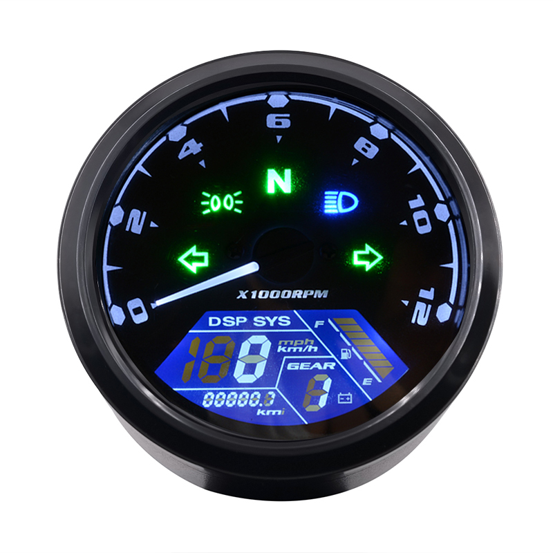 WUPP Odometer LED Digital-Indicator Motorcycle-Panel Dial Multi-Function Night-Vision