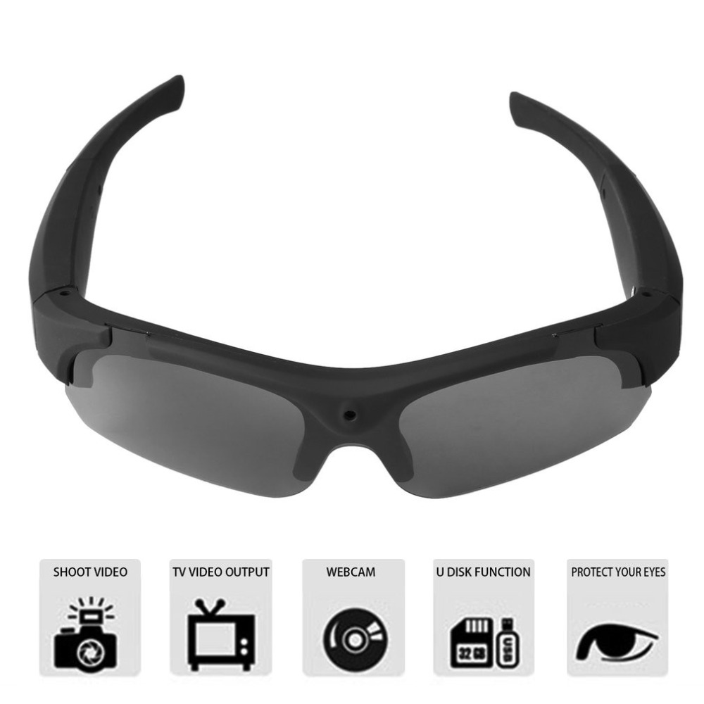 1080P HD Interchangeable Polarized-lenses Sunglasses Camera Video Recorder Sport Camcorder Eyewear
